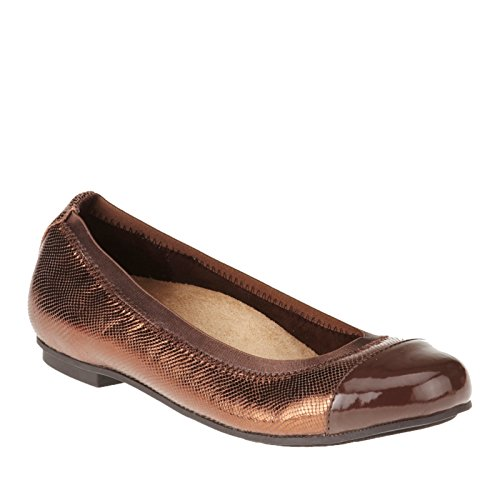 Bronze with Technology Womens Flat Vionic Ballet Allora Lizard Orthaheel 01n7daxA