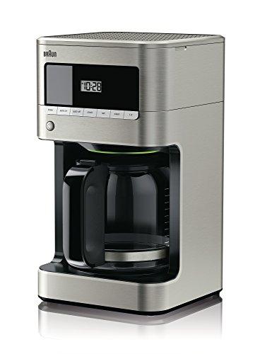 Braun KF7070 BrewSense Drip Glass Coffeemaker, 12 Cup, Stainless Steel