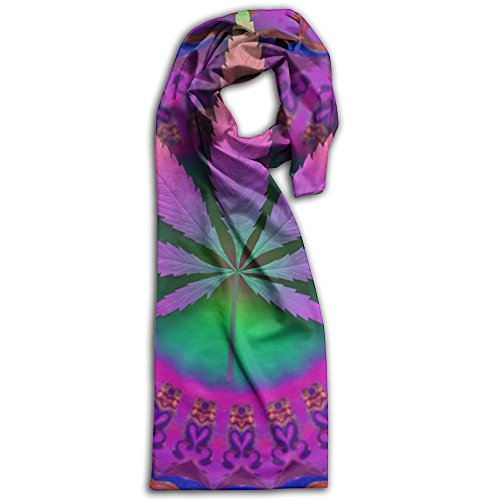 Marijuana Leaf Oblong Lightweight Women Scarf Vibrant For Bandana Unisex Shawls