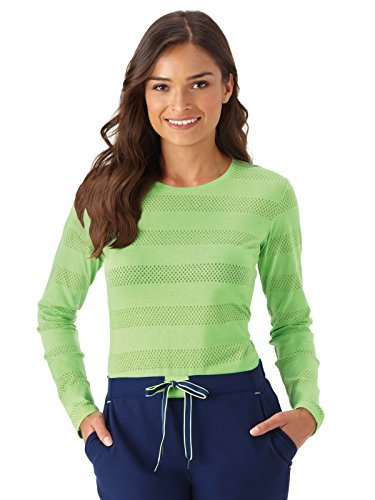 Jockey Scrubs Women's Modern Fit Comfy Burnout Scrub T-Shirt Key Lime -