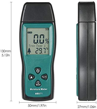 Moisture Detector Wood Moisture Meter Humidity Tester Timber Damp Detector Paper Digital Moisture Meter Test Wall Moisture Mini Tool