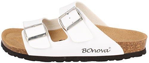 BONOVA BONOVA Femme Mules Blanc pour Blanc BONOVA Mules Femme Femme Blanc pour pour Mules z0grxqzRw