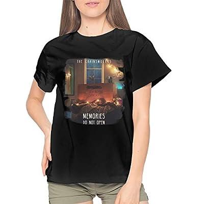 AlvaLynd The Chainsmokers Womens Tshirts Womans Tees Black