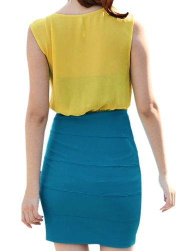 Robe Allegra Bleu K X small jaune Femme A55qUC