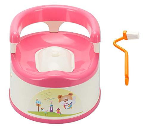 HAHABABY Aseo Escalera Asiento Escalera del Tocador para WC Orinal Formación Baño Reductor WC Niños,Pink,A