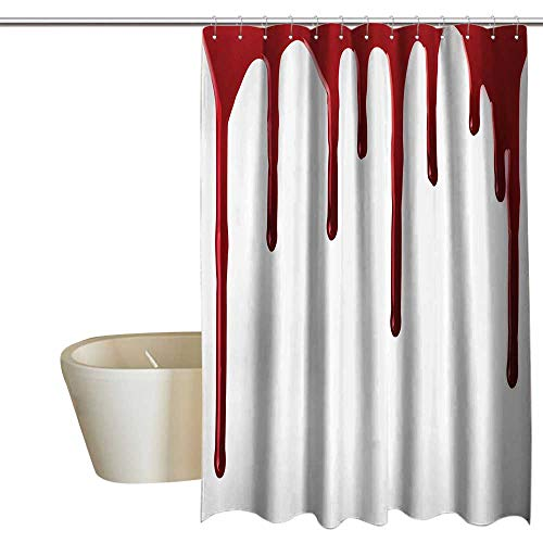 Anshesix Bloody Funny Shower Curtain Flowing Blood Horror