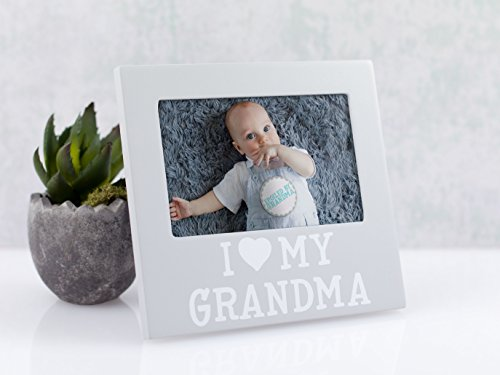 Pearhead I Love Grandma Keepsake Photo Frame and Baby Belly Sticker Gift Set, Gray by Pearhead (Image #3)
