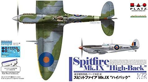 プラッツ 1/72 航空模型特選シリーズ スピットファイアMk.9 ハイバック プラモデル AE-15