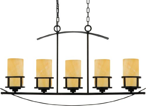 Quoizel KY540IB, Kyle, 5-Light Island Ch - Art Deco Bronze Chandelier Shopping Results