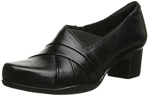 CLARKS Women's Rosalyn Adele Dress Pump, Black Leather, 8 M US by CLARKS