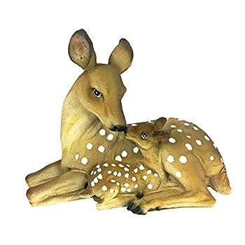 La bellaa 23493 Deer Mother and Baby Garden Sculpture Statues