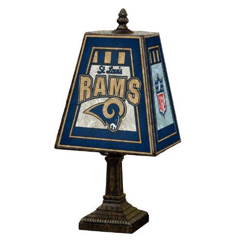 Louis Lamp Rams - NFL St. Louis Rams 14 Inch Art Glass Lamp