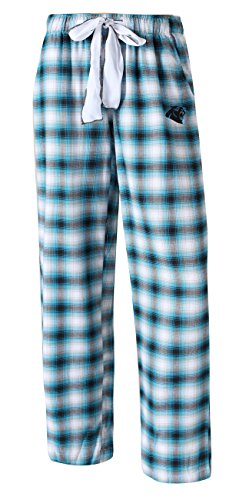 Concepts Sport Carolina Panthers NFL Women's Forge Dual Blend Plaid Flannel Sleep Pants