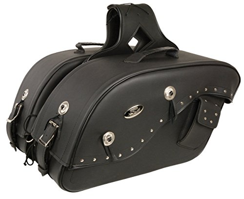 Details Holster (Cruiser Style Studded Throw Over Saddlebag w/ Gun Holster Fits Most All Harley Davidson Bikes -
