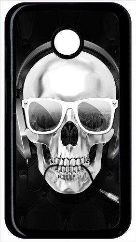 Coque Motorola Moto E Tete De Mort Swag Casque De Musique