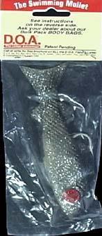 DOA SM-336 Swimming Mullet, 1-1/4-Ounce, Sil Glitter/Black