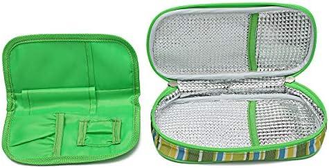 ZHENWOFC Estuche de viaje de bolsa de hielo para enfriador de la bolsa de refrigeración de insulina diabética de medicina portátil Piezas de hardware: Amazon.es: Bricolaje y herramientas