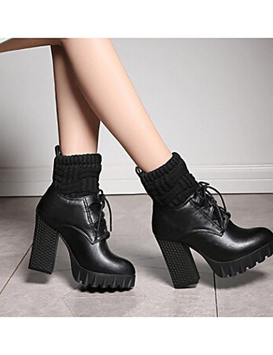 Negro us5 De Gray Cn39 Zapatos 5 Eu39 Xzz us8 Gris Botas Cn35 Stiletto Gray Exterior Mujer Eu36 5 Semicuero Tacón Comfort Uk3 Uk6 FzTTpw