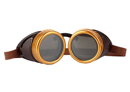 Sexy_Forever novelty Sports Vintage Aviator Pilot Style Cruiser Scooter Goggle Elastic Band Retro Victorian Cosplay -