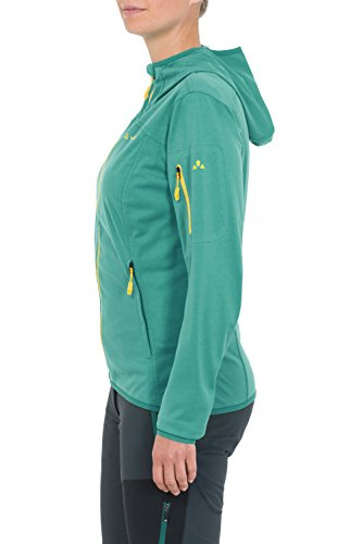 Vaude Durance Veste à capuche pour femme Motif Lotus Vert - 38–vent stretch à capuche-Femme