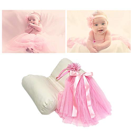 Newborn Photography Props Kit for Girl – Butterfly Posing Pillow Baby Photography Outfit – Pink Tutu and Flower Headband – Photo Props for Baby Basket Filler Backdrops – Newborn Baby Gift for Girl