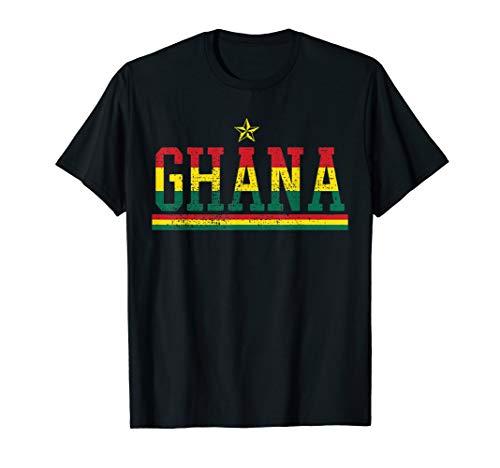 Ghana T Shirt Country Flag Tshirt Ghanaian Pride Tee