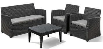 Amazon.de: Allibert 212404 Lounge Set Corona (2 Sessel, 1 Sofa, 1 ...