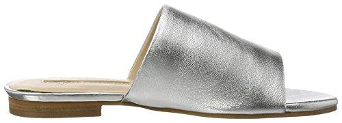 silver Argento Donna 184516 London Buffalo Ciabatte I8XSU