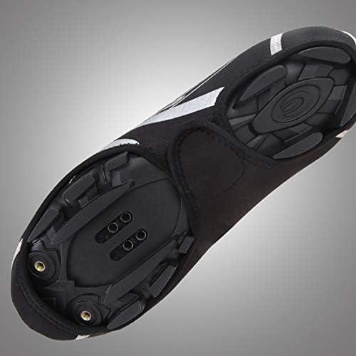 サイクリングシューズカバー 暖かい乗馬靴カバー防風防水靴カバー屋外の乗馬機器のための女性と男性 雨の日に適しています (Color : Black, Size : 21.5x11x21cm)