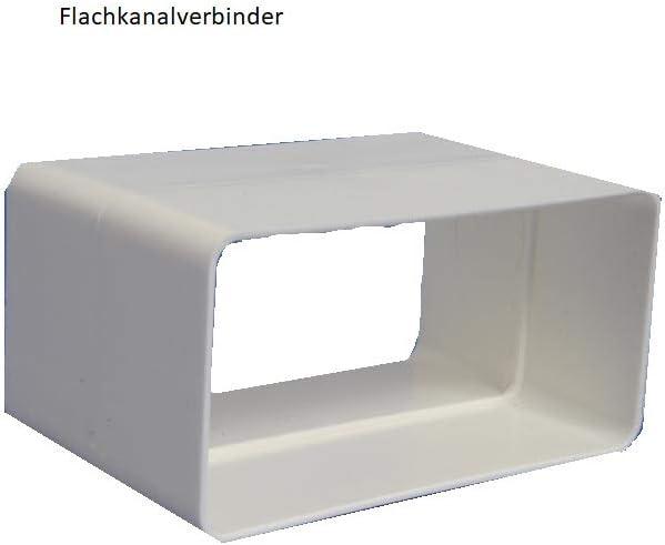 Winkel 90/° 110x55 L/üftungskanal Flachkanalsystem Rohrkanal Abluftkanal Rohrkanal Flachkanal zubeh/ör