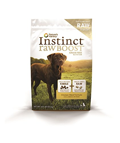 By Nature Chicken Dog Food (Instinct Raw Boost Grain Free Chicken Meal Formula Natural Dry Dog Food by Nature's Variety, 23.5 lb. Bag)