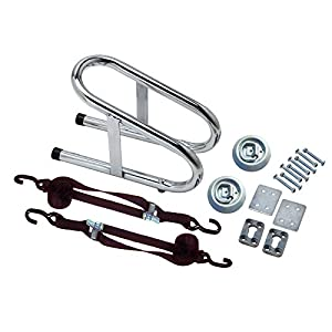 "Pit Posse 11018K Chrome Motorcycle Removable Narrow 3 1/2"" Wheel Chock Nest Tire Trailer Holder Kit- 5 Year Warranty"