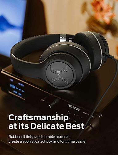 Tribit XFree Tune Bluetooth Headphones, [40h Playtime] Bluetooth Headphones Over Ear with Hi-Fi Stereo Sound & Rich Bass, Cnet's Award, Comfortable Headphones with Microphone & Foldable, Black 41730ta g 2BL