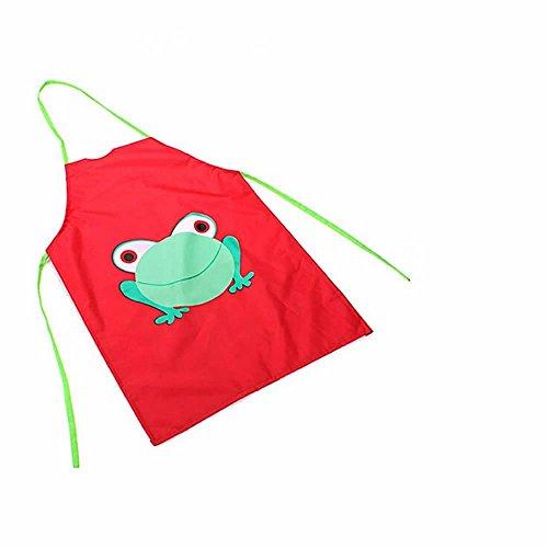 ink2055 Cute Kids Children Waterproof Apron Cartoon Frog Printed Painting Cooking Bibs (Garden Apron Plastic)