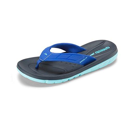 Speedo Women's ON Deck FLIP Sandal, Blue, 7 C/D US