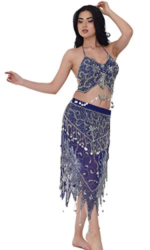 Belly Dance Costume Set - Bellydance Sexy Dancer Costume for Women -Carnival Dancing Skirts - Made by Handmade -