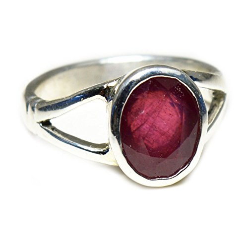 (Choose Your Color Genuine Gemstone Chakra Healing Ring Sterling Silver 5 Carat Handmade Jewelry Size 5-13)