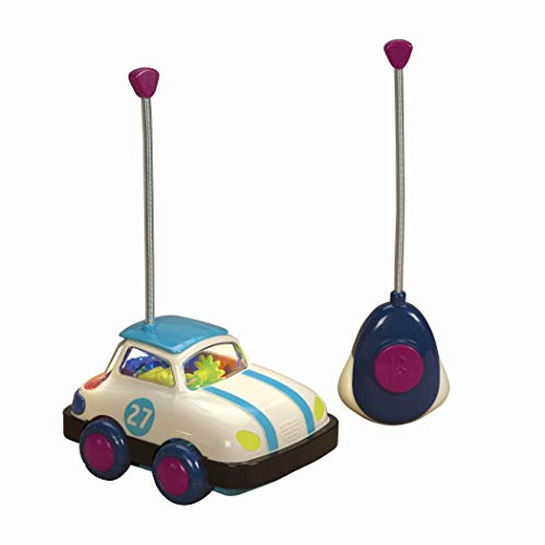 B toys by Battat - Rally Ripster - One Button Remote Control Light-Up Toy Car for Babies and Toddlers 1 Year +
