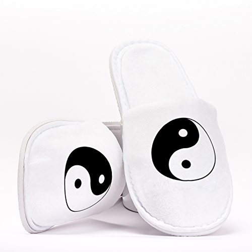 Yin Yang Chinese Philosophy Symbol Einheitsgröße Hausschuhe