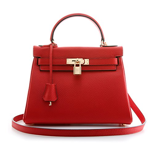 Purses 28CM Hobo Padlock Red CM Bag 32CM 25 Women's Handbags Shoulder Ainifeel w6xat