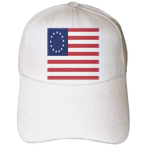 [Florene Patriotic - 13 Colonies Betsy Ross Flag - Caps - Adult Baseball Cap (cap_50163_1)] (Betsy Ross Hat)