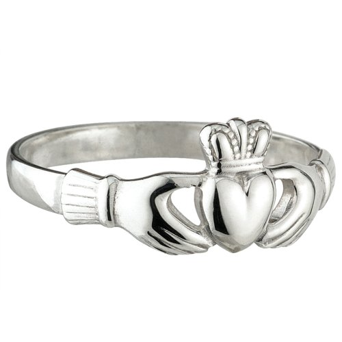 Solvar Sterling Silver Maids Heavy Claddagh Size 7