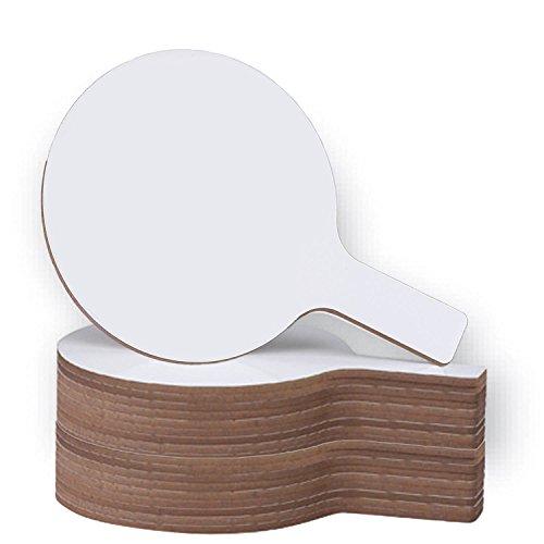 Flipside Products Mini Dry Erase Answer Paddles - Set of 24, White (10037)