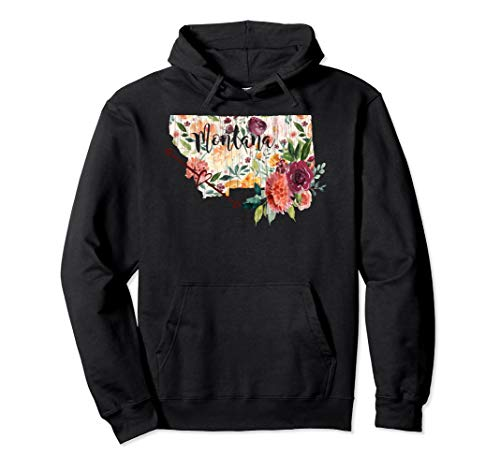 Montana Floral Flower Heart Arrow Hoodie Sweatshirt