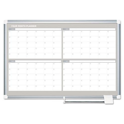 MASTERVISION GA05105830 4 Month Planner, 48x36, White/Silver by MasterVision