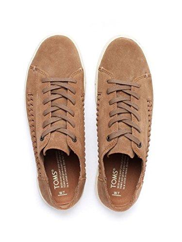 Toms Womens Lenox Sneaker Toffee Costruito Pelle Scamosciata / Tessuto Pannello Oxford