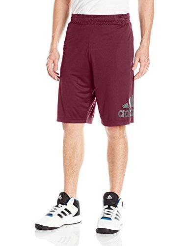 Adidas Custom Fit Shorts - adidas Men's Basketball Crazylight Shorts, Maroon/Black, Medium