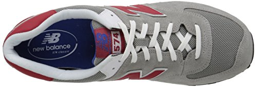 Baskets Mox Homme Balance New D Gris ML574 Grey Red Mode xwtqvTF