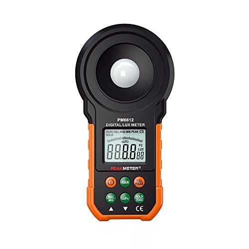 PEAKMETE Digital Luxmeter 200000 Lux Light Meter Test Spectra Auto Range Hot Worldwide Light Illuminance Measuring HYELEC MS6612