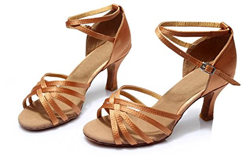 Sólo De 7cm Suave Zapatos Piel Color Satén América Interior Baile Series Inferior Femenina Deep Cinco q1f5t